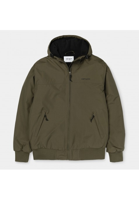 HOODED SAIL JACKET CYPRESS / BLACK